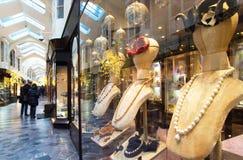 Παράθυρο κοσμήματος στο Μπέρλινγκτον Arcade, Λονδίνο Στοκ Εικόνα