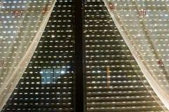παράθυρο κουρτινών Στοκ φωτογραφία με δικαίωμα ελεύθερης χρήσης