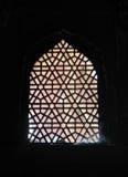 Παράθυρο, κόκκινο οχυρό, Agra Στοκ φωτογραφίες με δικαίωμα ελεύθερης χρήσης
