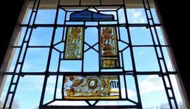 Παράθυρο με το λεκιασμένο γυαλί Στοκ Εικόνα
