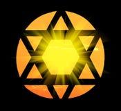 Παράθυρο μορφής αστεριών του Δαβίδ ` s σε μια συναγωγή στοκ εικόνες