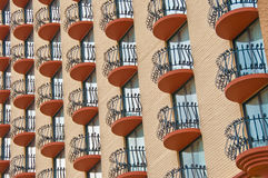 παράθυρο μπαλκονιών Στοκ Φωτογραφία