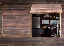 Παράθυρο μπαρ Στοκ εικόνες με δικαίωμα ελεύθερης χρήσης