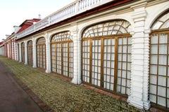 παράθυρο παλατιών στοών monplaisir p Στοκ Εικόνα