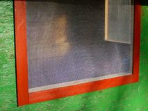 παράθυρο πλέγματος Στοκ φωτογραφία με δικαίωμα ελεύθερης χρήσης