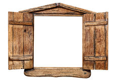 Παράθυρο που απομονώνεται ξύλινο Στοκ Φωτογραφία