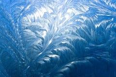παράθυρο προτύπων πάγου Στοκ Φωτογραφίες