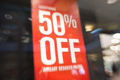 Παράθυρο πώλησης Στοκ Εικόνες