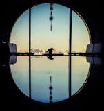 Παράθυρο πλαισίων reflact Στοκ Φωτογραφία