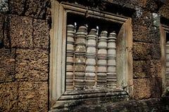 Παράθυρο σε έναν τοίχο στο ankor wat, Καμπότζη Στοκ Εικόνες