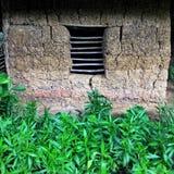 Παράθυρο σε ένα σπίτι λάσπης και πράσινος sujanmap Iphone στοκ εικόνα με δικαίωμα ελεύθερης χρήσης