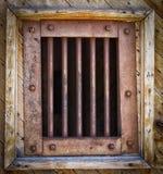 παράθυρο σιδήρου ράβδων Στοκ φωτογραφία με δικαίωμα ελεύθερης χρήσης