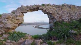 Παράθυρο στη λιμνοθάλασσα απόθεμα βίντεο