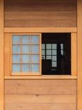 Παράθυρο στο ιαπωνικό ύφος Στοκ Φωτογραφίες