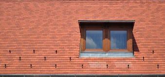 Παράθυρο στο κεραμίδι για το υπόβαθρο Στοκ Φωτογραφίες