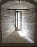 Παράθυρο στο πύργο του Σωμόν Στοκ Εικόνα