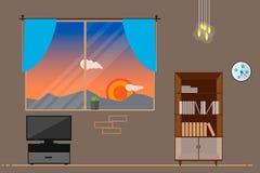 Παράθυρο στο δωμάτιο Στοκ φωτογραφία με δικαίωμα ελεύθερης χρήσης