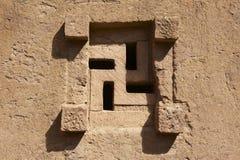 Παράθυρο της βράχος-κομμένης εκκλησίας, Lalibela, Αιθιοπία Περιοχή παγκόσμιων κληρονομιών της ΟΥΝΕΣΚΟ στοκ εικόνες