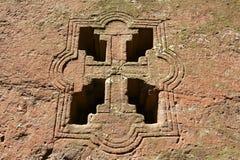 Παράθυρο της βράχος-κομμένης εκκλησίας, Lalibela, Αιθιοπία Περιοχή παγκόσμιων κληρονομιών της ΟΥΝΕΣΚΟ στοκ εικόνες με δικαίωμα ελεύθερης χρήσης
