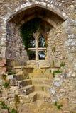 Παράθυρο της παλαιάς και διάσημης Isabella σε Carisbrooke Castle, Νιούπορτ, το Isle of Wight, Αγγλία Στοκ Φωτογραφίες