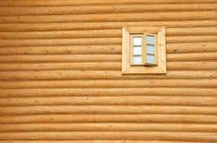 παράθυρο τοίχων ξύλινο Στοκ Εικόνες