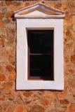 παράθυρο τοίχων πετρών Στοκ Φωτογραφία