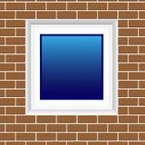 παράθυρο τουβλότοιχος Στοκ φωτογραφία με δικαίωμα ελεύθερης χρήσης
