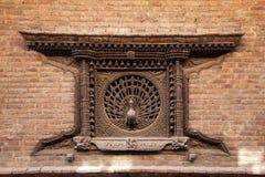 παράθυρο του Νεπάλ peacock Στοκ εικόνες με δικαίωμα ελεύθερης χρήσης