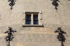 Παράθυρο του Castle, Bojnice Castle στη Σλοβακία, αρχιτεκτονική Στοκ Εικόνα