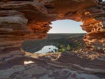 Παράθυρο φύσης ` s, εθνικό πάρκο Kalbarri, δυτική Αυστραλία Στοκ Φωτογραφίες