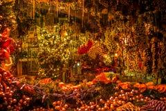Παράθυρο Χριστουγέννων του καφέ Στοκ εικόνα με δικαίωμα ελεύθερης χρήσης