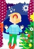 παράθυρο Χριστουγέννων απεικόνιση αποθεμάτων
