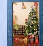 παράθυρο Χριστουγέννων Στοκ Φωτογραφία