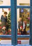 παράθυρο Χριστουγέννων Στοκ Εικόνα