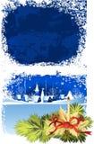 παράθυρο Χριστουγέννων διανυσματική απεικόνιση