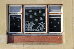 παράθυρο Χριστουγέννων Στοκ φωτογραφία με δικαίωμα ελεύθερης χρήσης