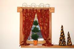 παράθυρο Χριστουγέννων Στοκ φωτογραφίες με δικαίωμα ελεύθερης χρήσης