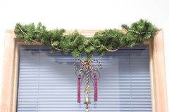 παράθυρο Χριστουγέννων στοκ εικόνα με δικαίωμα ελεύθερης χρήσης