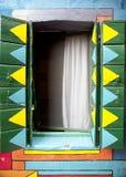 Παράθυρο Burano Στοκ Φωτογραφία