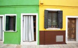 Παράθυρο Burano Στοκ εικόνα με δικαίωμα ελεύθερης χρήσης