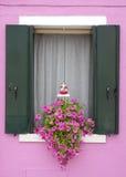 Παράθυρο Burano Στοκ φωτογραφία με δικαίωμα ελεύθερης χρήσης