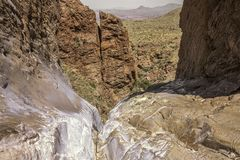 Παράθυρο pouroff, μεγάλο εθνικό πάρκο κάμψεων, Τέξας, Ηνωμένες Πολιτείες της Αμερικής στοκ φωτογραφίες με δικαίωμα ελεύθερης χρήσης
