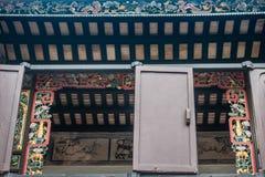 Παράθυρο Tai Fu Tai στο προγονικό σπίτι, Χονγκ Κονγκ Κίνα στοκ φωτογραφία
