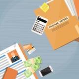 Παράκτια έγγραφα Folder Documents Company του Παναμά Στοκ Εικόνες
