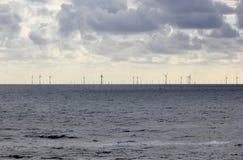 Παράκτια αιολική ενέργεια Βόρεια Θάλασσα, οι Κάτω Χώρες Στοκ Εικόνες