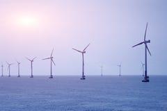 Παράκτια αιολική ενέργεια Στοκ φωτογραφίες με δικαίωμα ελεύθερης χρήσης