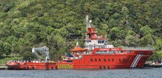 Παράκτια βάρκα Ιστανμπούλ, Τουρκία ασφάλειας Στοκ Εικόνα
