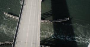 Παράκτια γέφυρα της Καρολίνας flyover απόθεμα βίντεο
