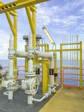 παράκτια πετρέλαιο βιομηχανίας φ&upsilo Στοκ εικόνα με δικαίωμα ελεύθερης χρήσης