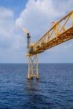 Παράκτια πετρέλαιο και φυσικό αέριο βιομηχανίας Στοκ φωτογραφία με δικαίωμα ελεύθερης χρήσης